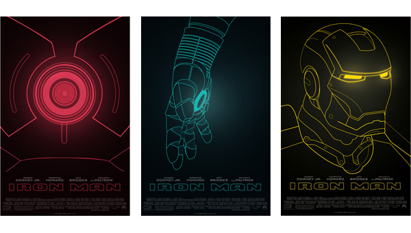 3 three Ironman posters